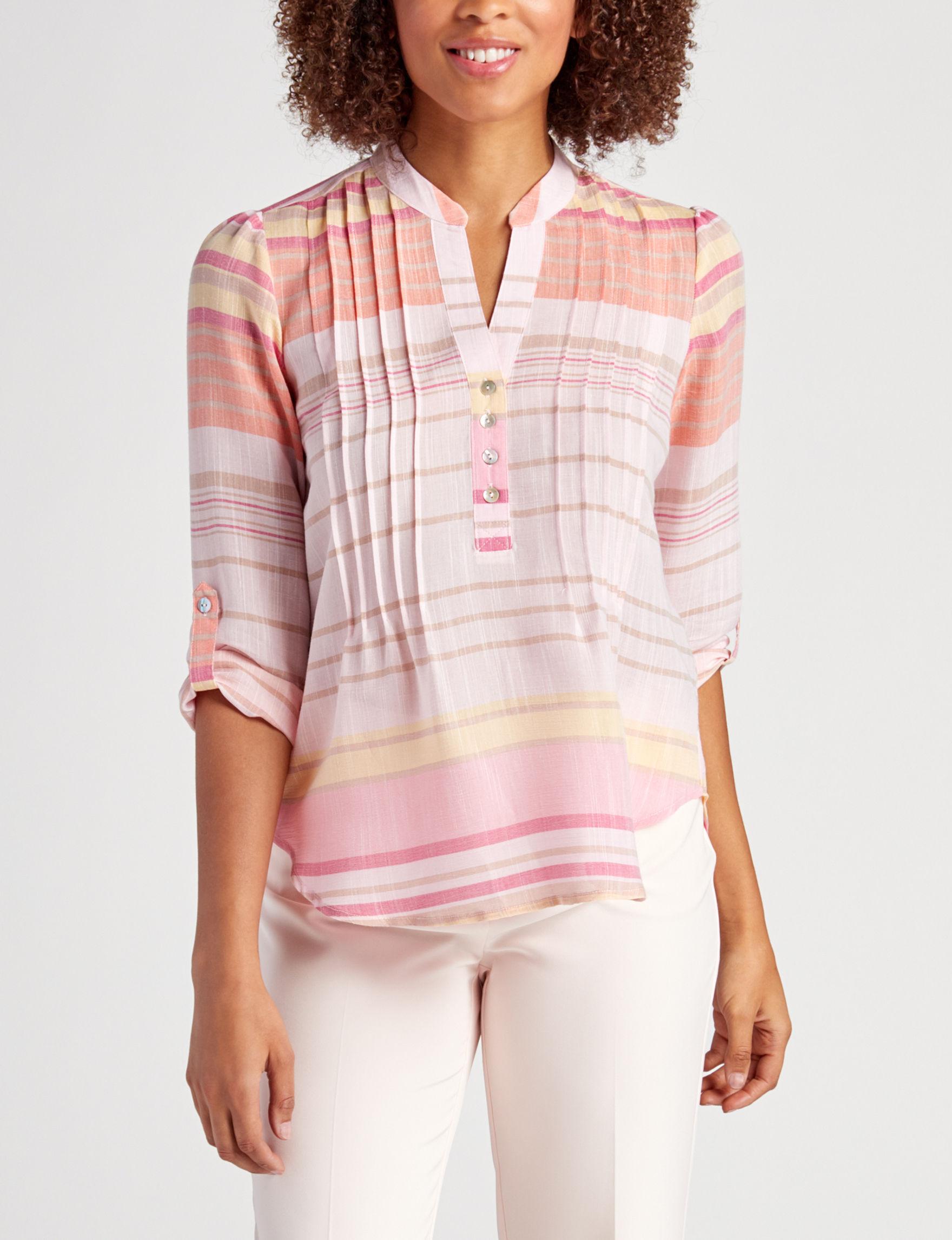 Zac & Rachel Pink / Orange Shirts & Blouses