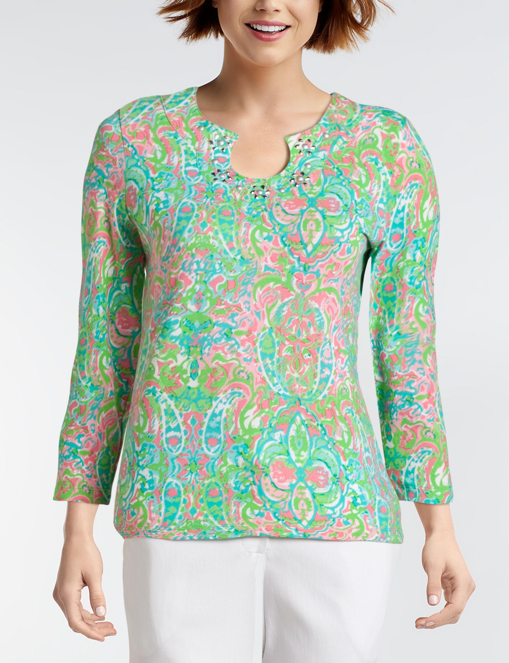 Ruby Road Green Shirts & Blouses