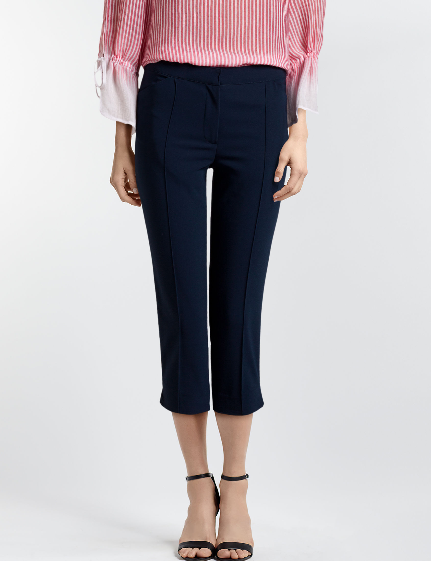 Ruby Road Navy Capris & Crops