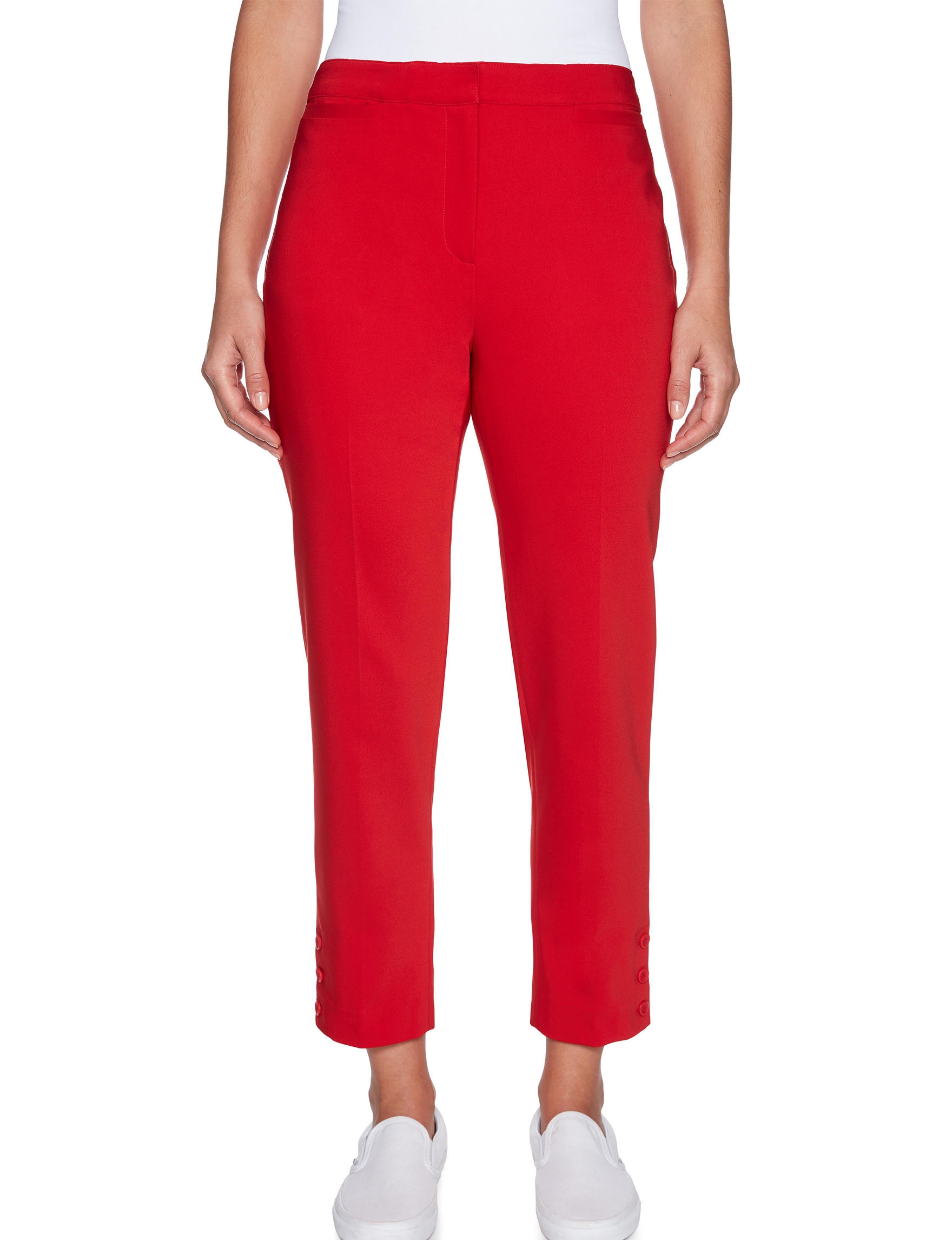 Ruby Road Red Capris & Crops