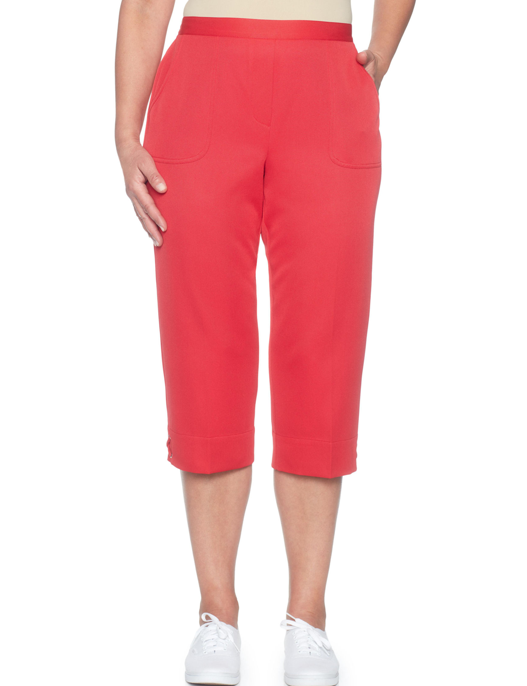 Alfred Dunner Red Capris & Crops