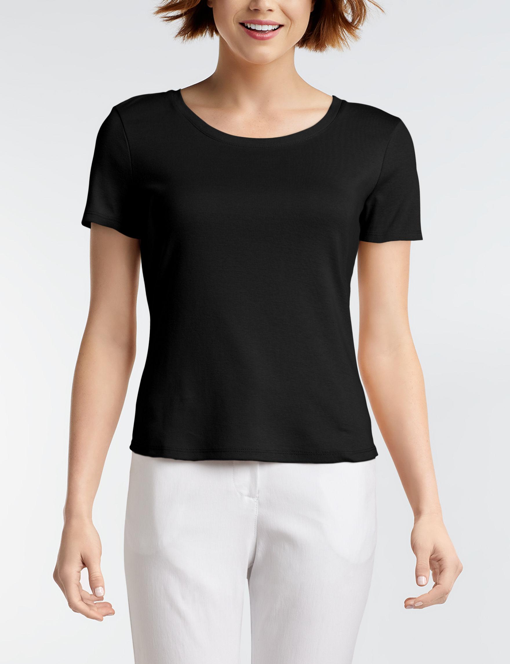 Ruby Road Black Shirts & Blouses