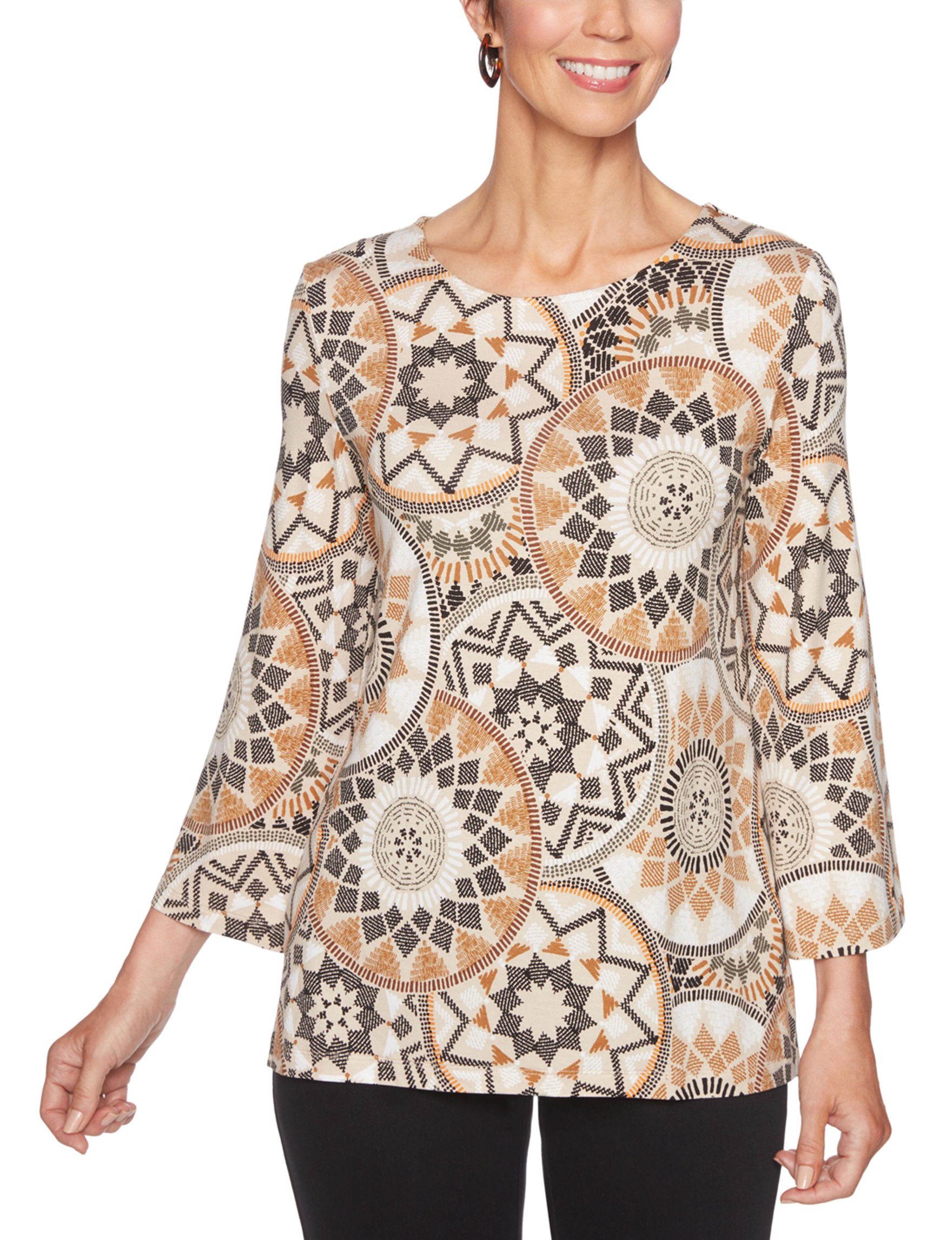 Ruby Road Beige / Multi Shirts & Blouses