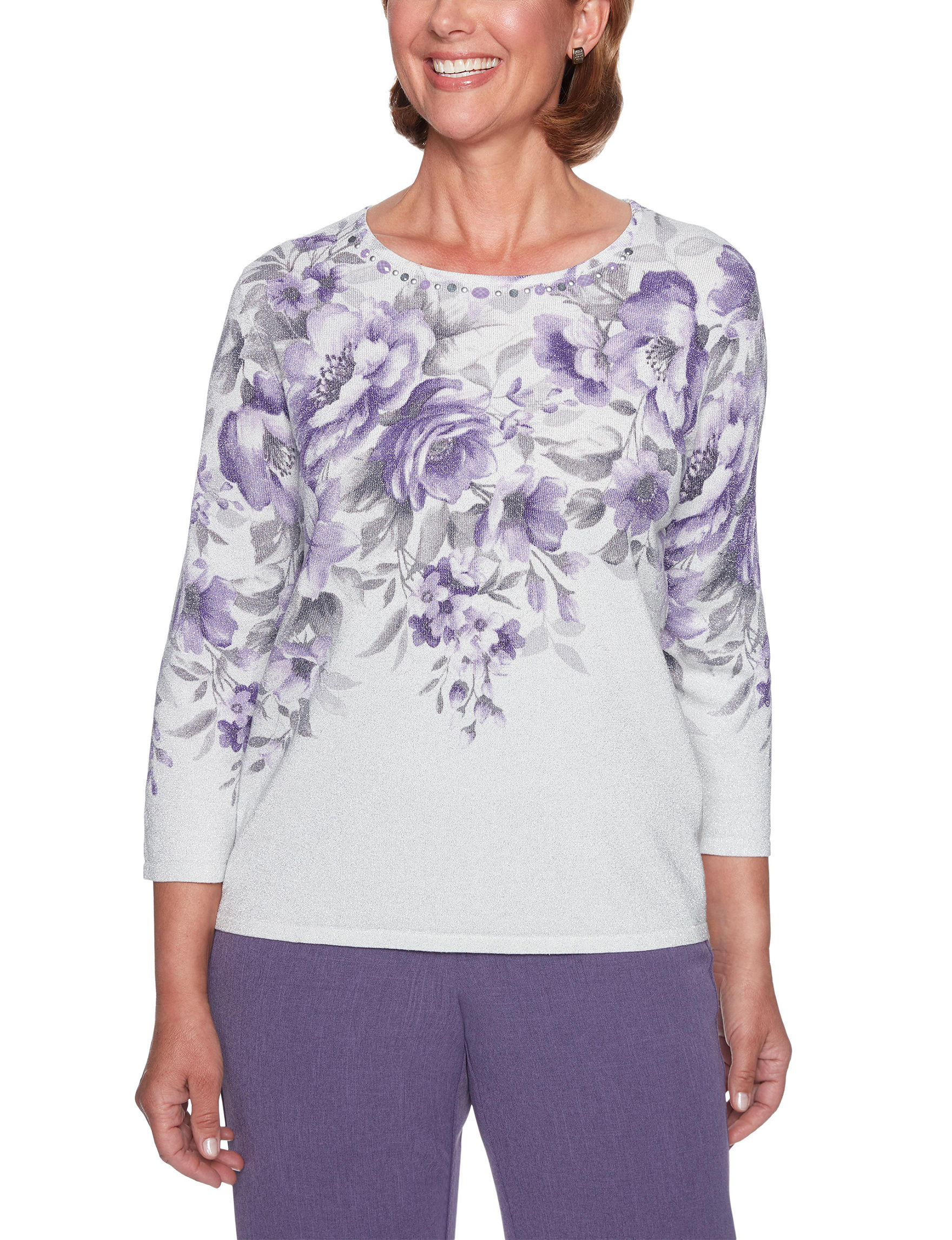 Alfred Dunner Purple Multi