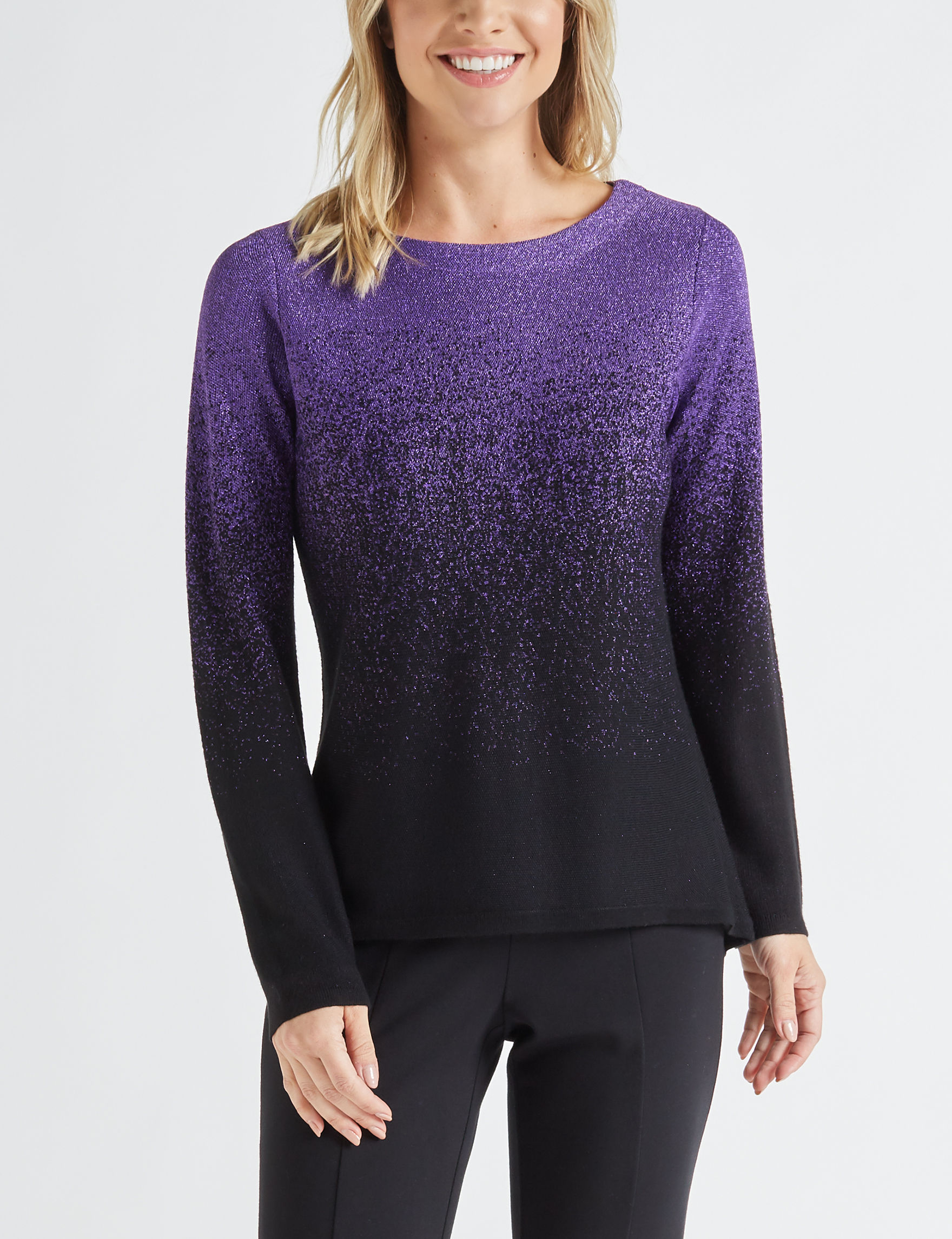 NY Collection Purple Pull-overs