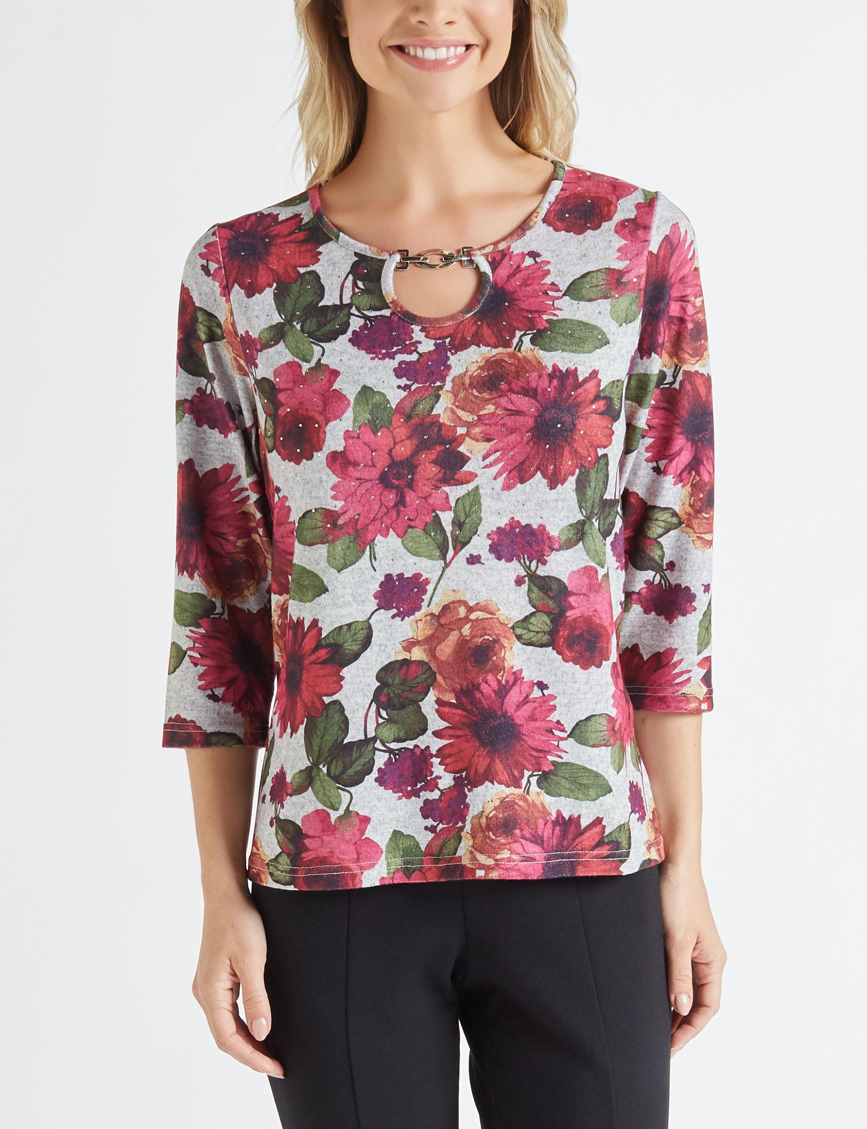 Rebecca Malone Grey / Red Shirts & Blouses