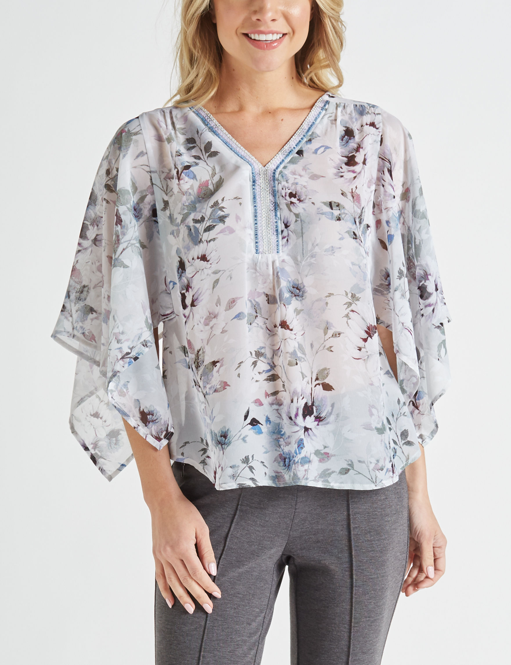 Zac & Rachel Grey Shirts & Blouses