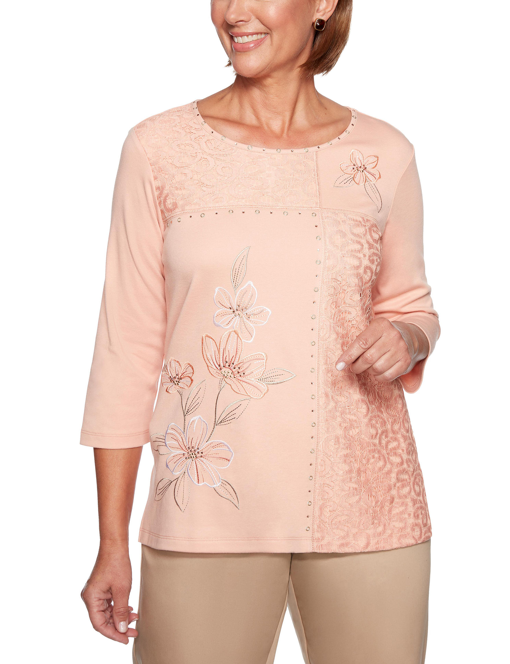 Alfred Dunner Coral Shirts & Blouses
