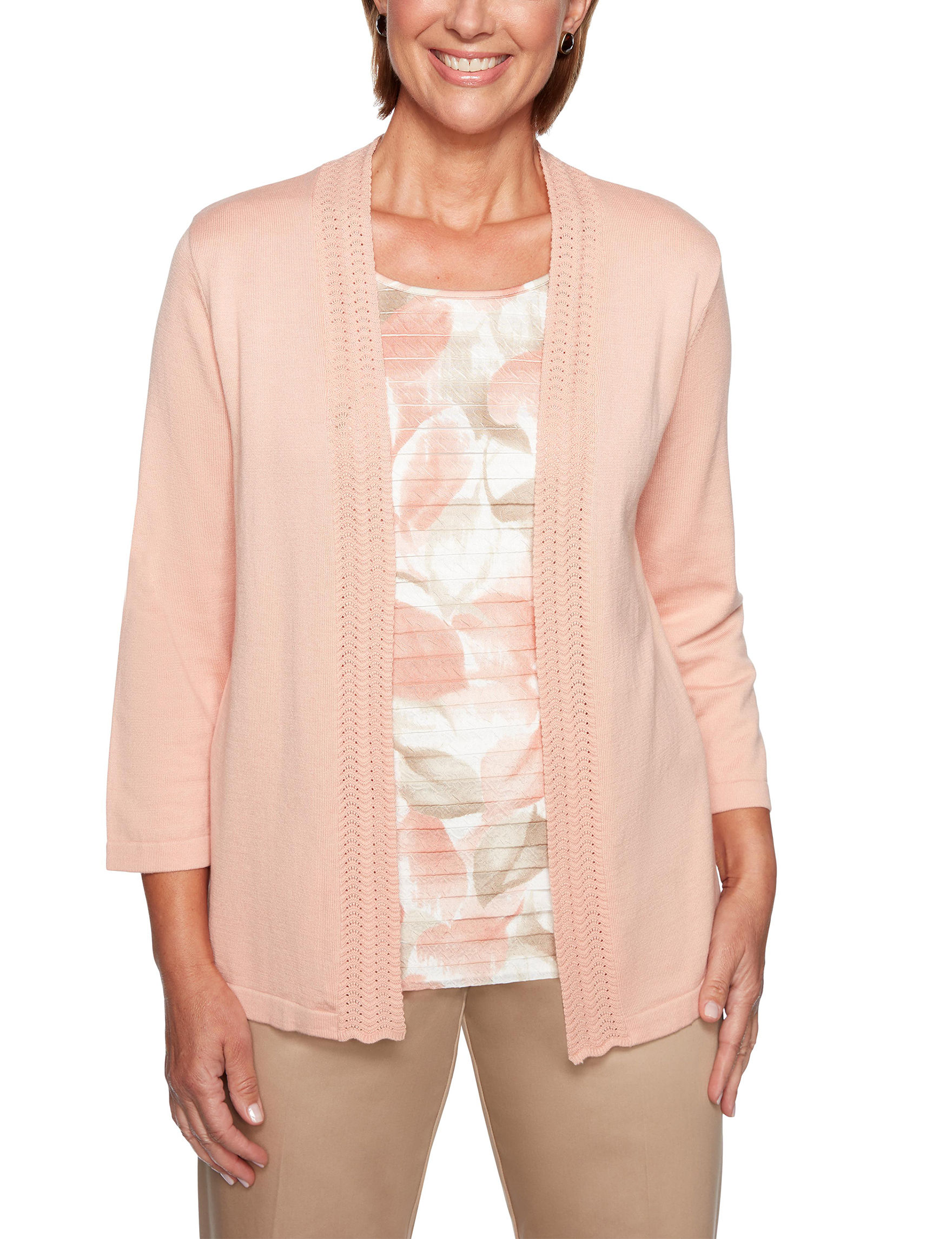 Alfred Dunner Coral Cardigans