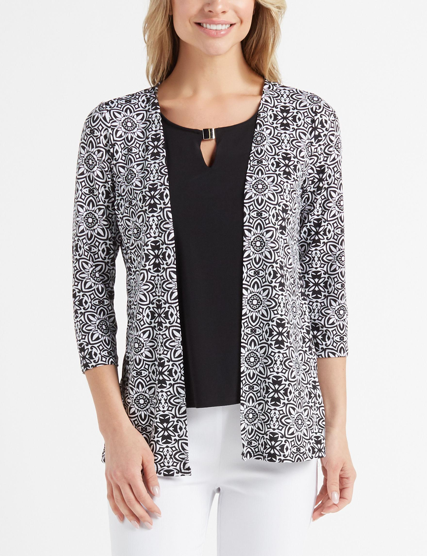 Rebecca Malone Black White Shirts & Blouses