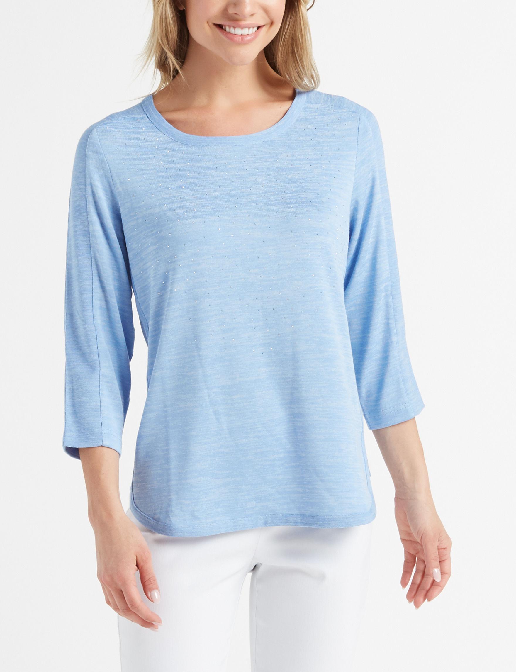 Cathy Daniels Light Blue Shirts & Blouses