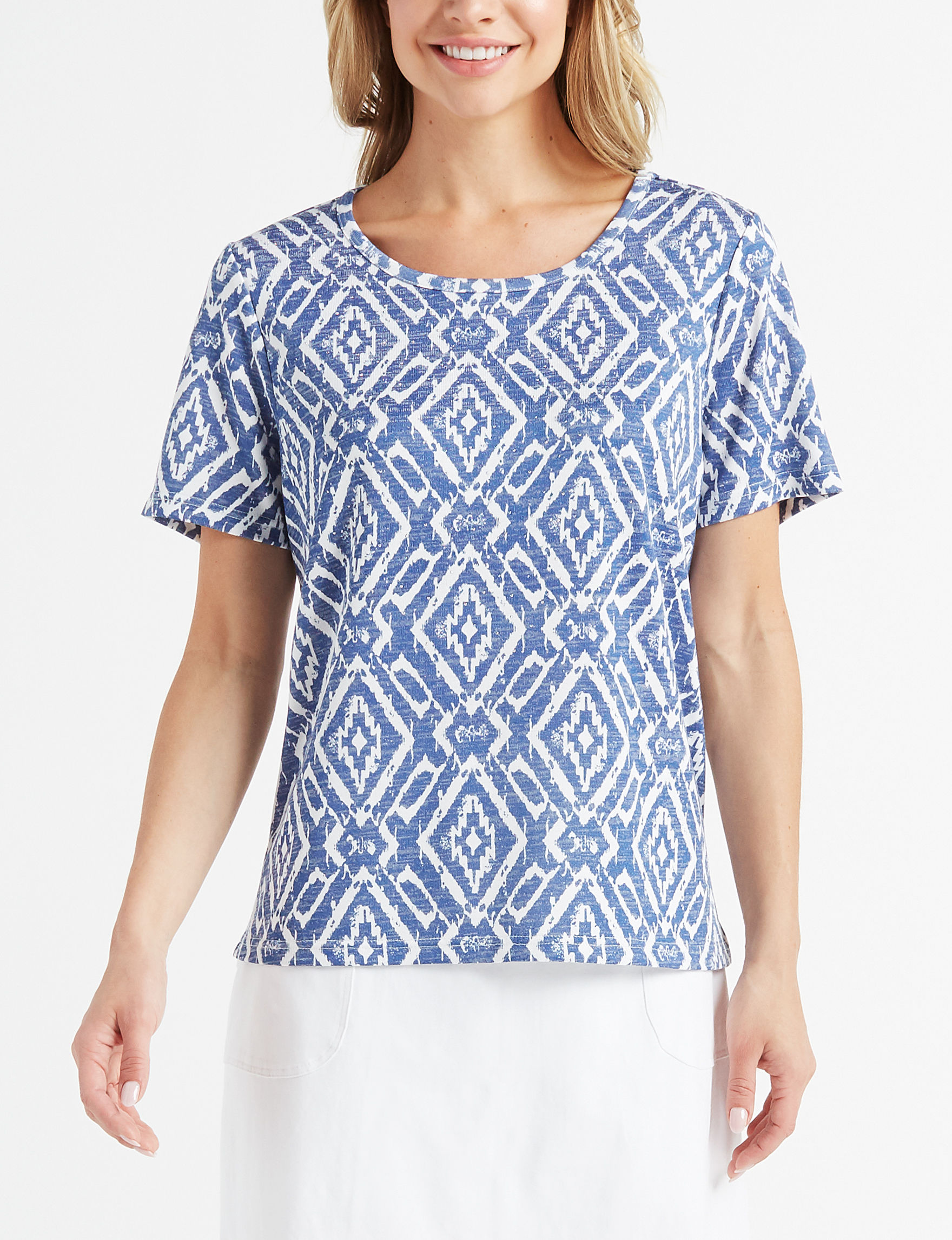 Cathy Daniels Navy / White Shirts & Blouses