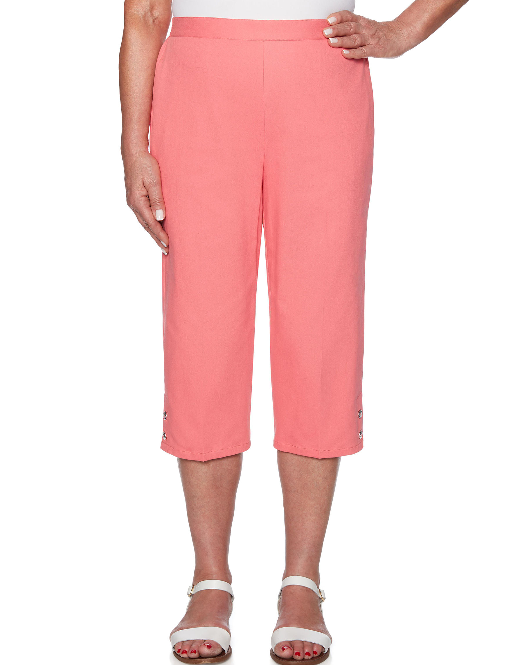 Alfred Dunner Coral Capris & Crops