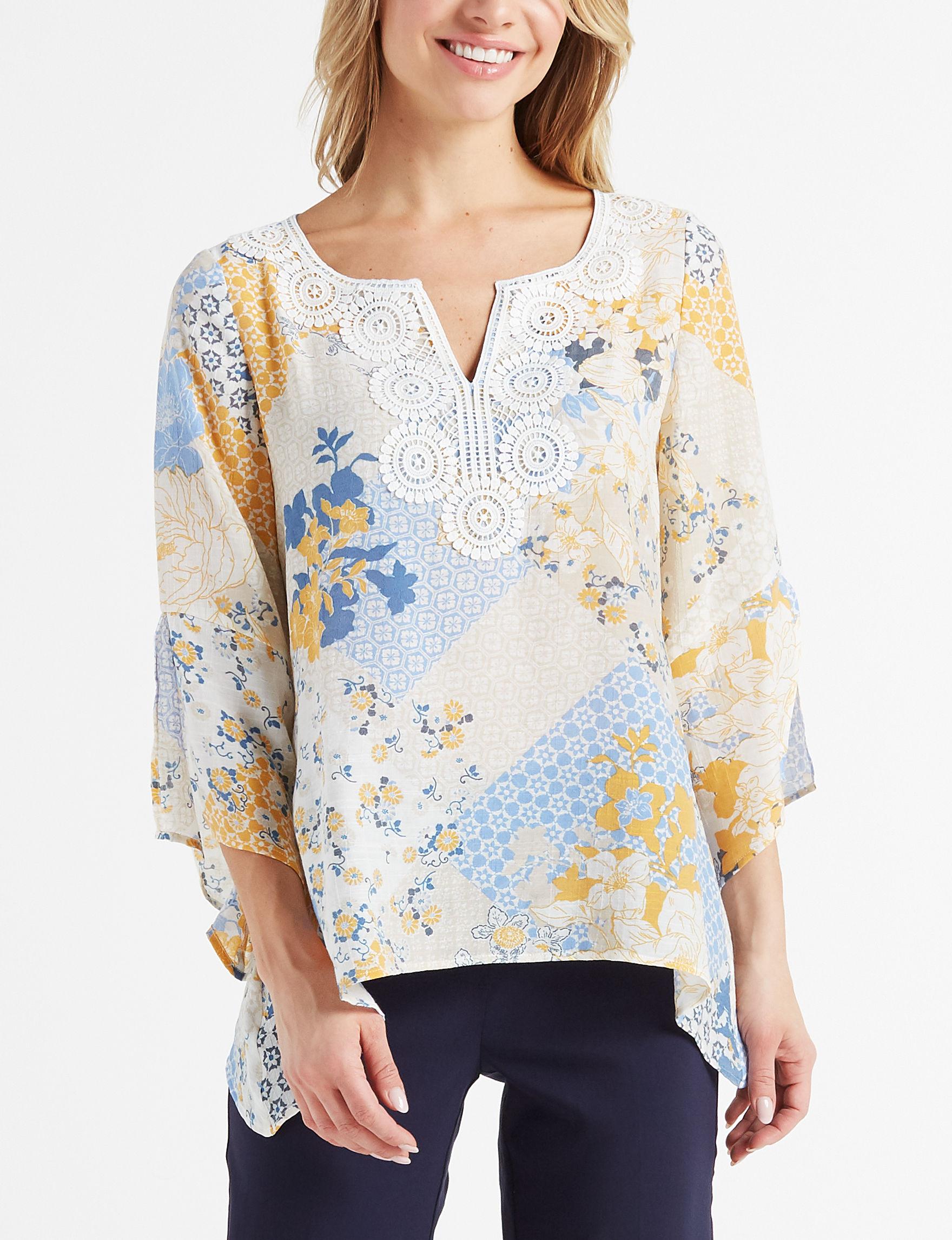 Zac & Rachel Beige Shirts & Blouses