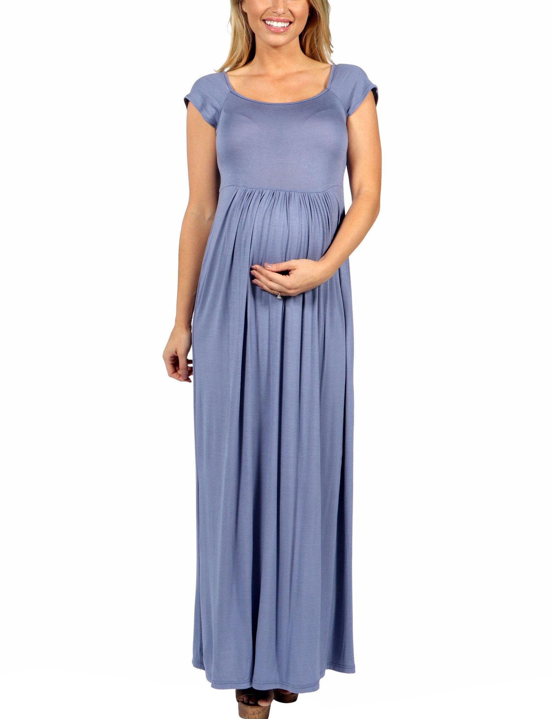 d6da58fd4a54 24Seven Comfort Apparel Maternity Empire Waist Maxi Dress | Stage ...
