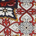 White / Red Multi