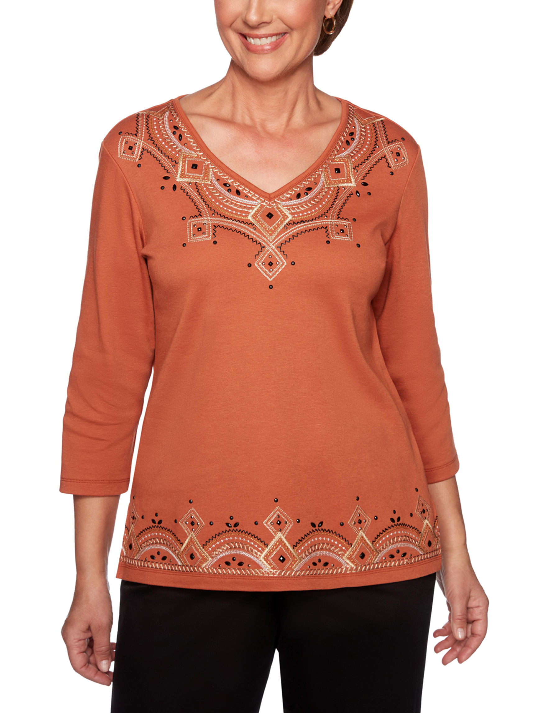 Alfred Dunner Cinnamon Shirts & Blouses