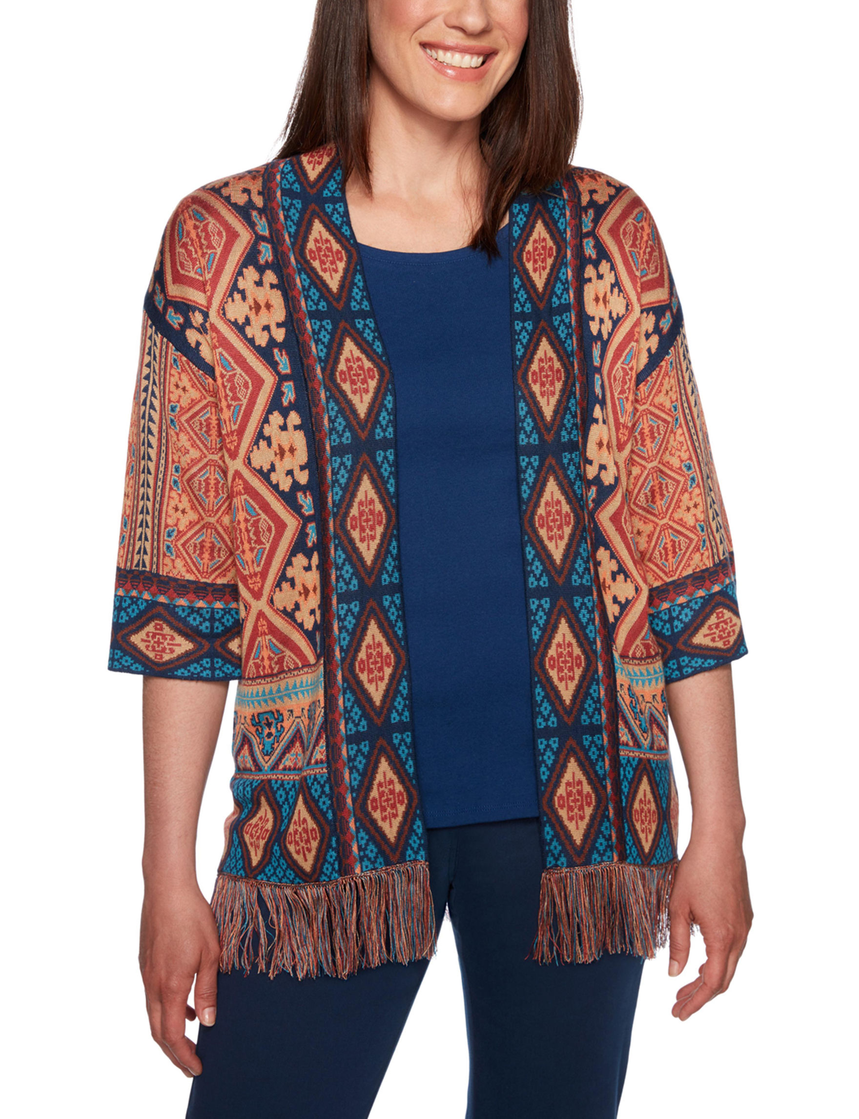 Ruby Road Brown / Navy Cardigans