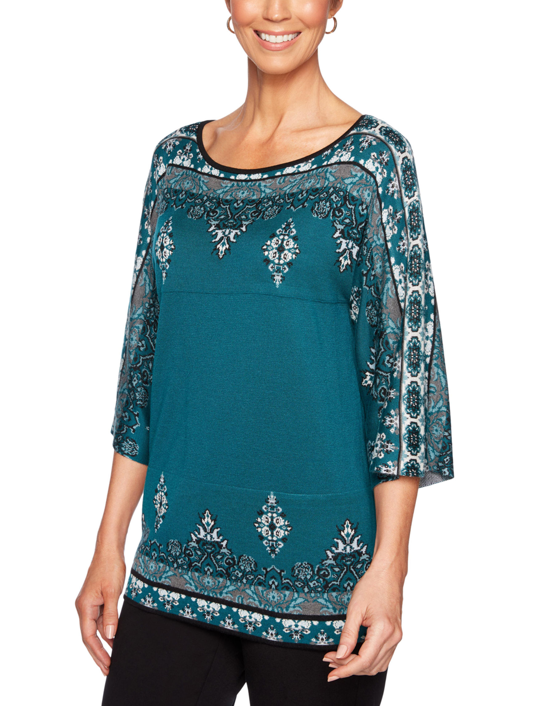 Ruby Road Teal Pull-overs Shirts & Blouses