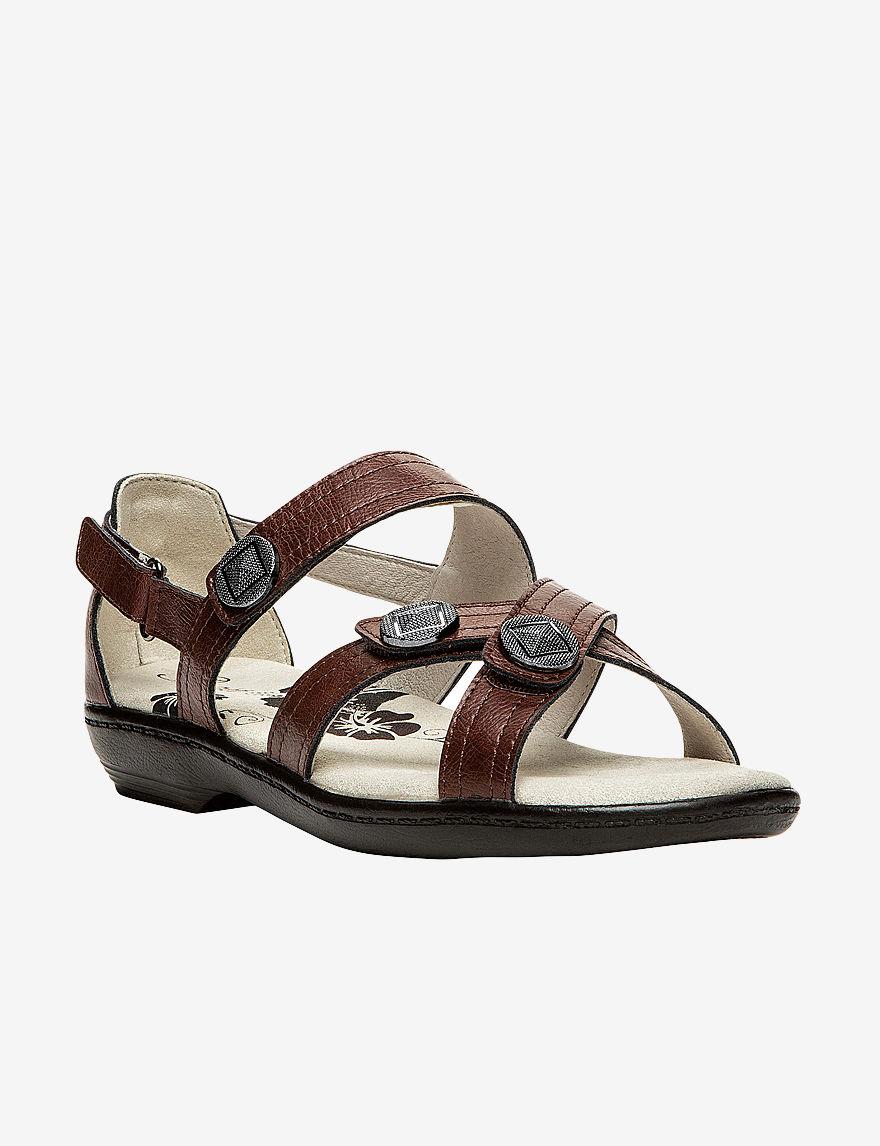 Propet Chestnut Flat Sandals Comfort