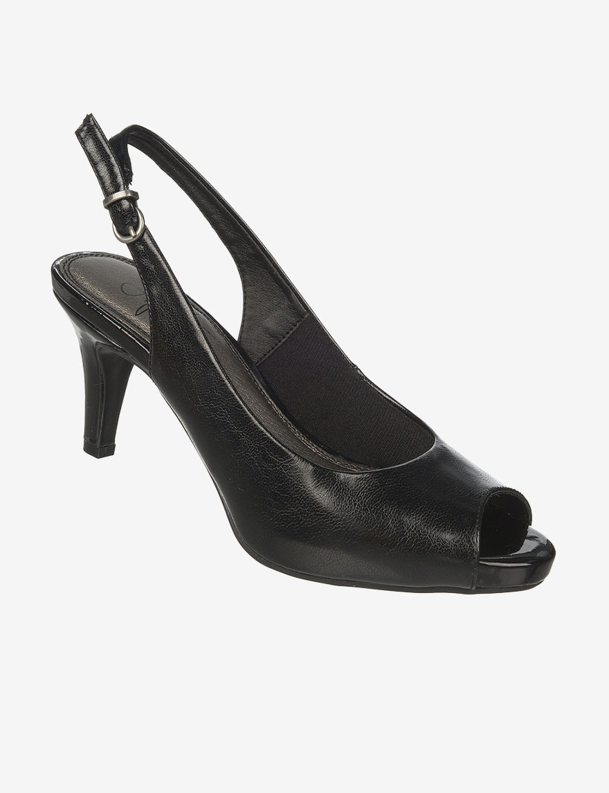 Lifestride Black Peep Toe