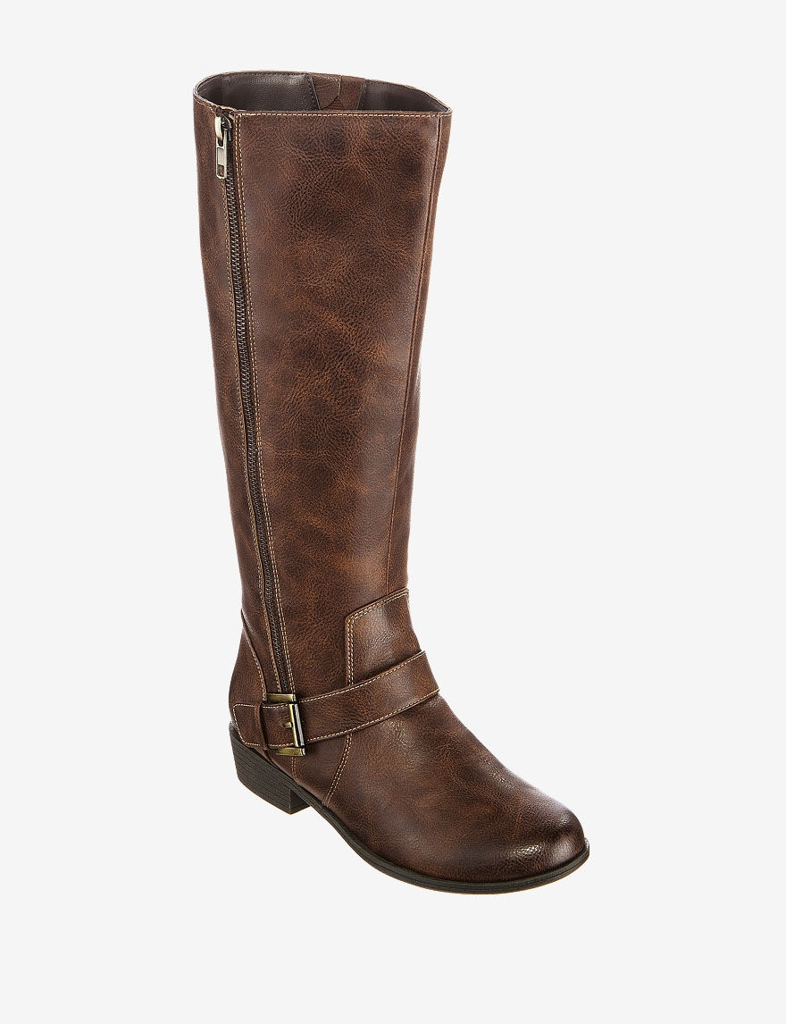 d1cddc8f503f Natural Soul by Naturalizer Vickers Wide Calf Tall Boots – Ladies ...