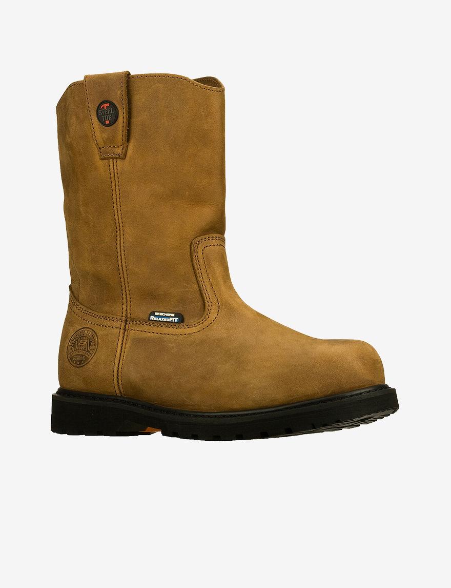 Skechers Dark Brown Western & Cowboy Boots