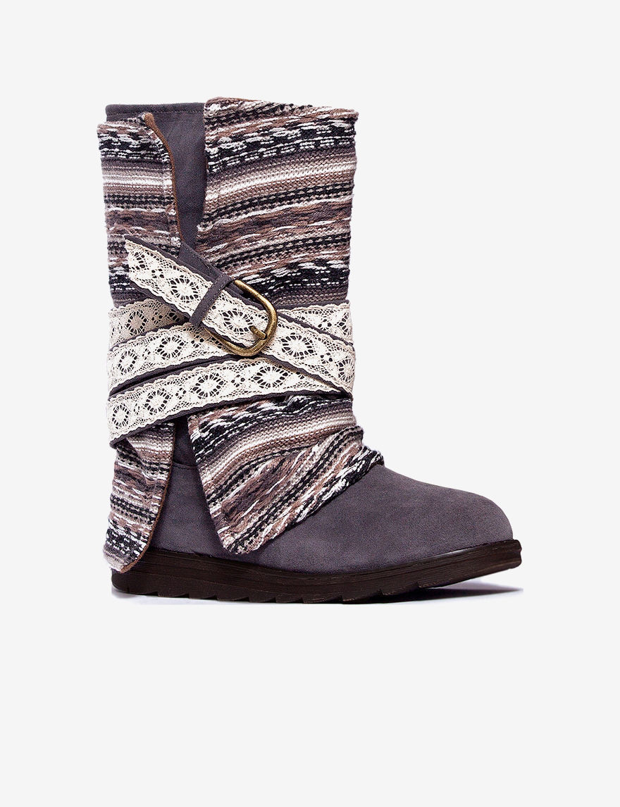 Muk Luks Grey Slipper Boots & Booties