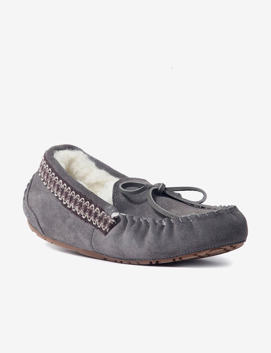 Muk Luks Dark Brown Slipper Shoes
