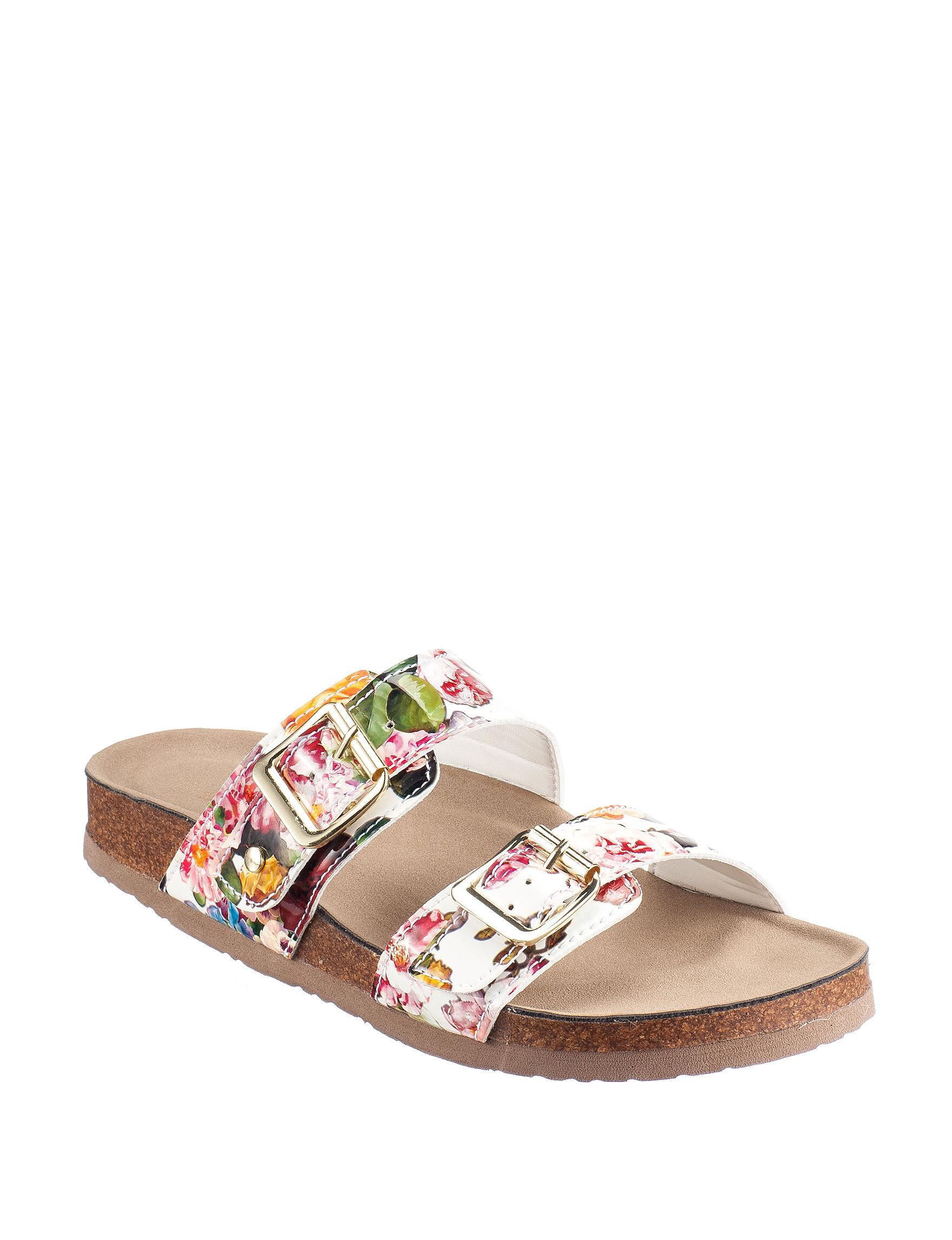 Madden Girl Floral Print Flat Sandals