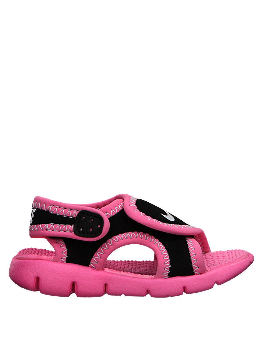 Nike Black Flat Sandals