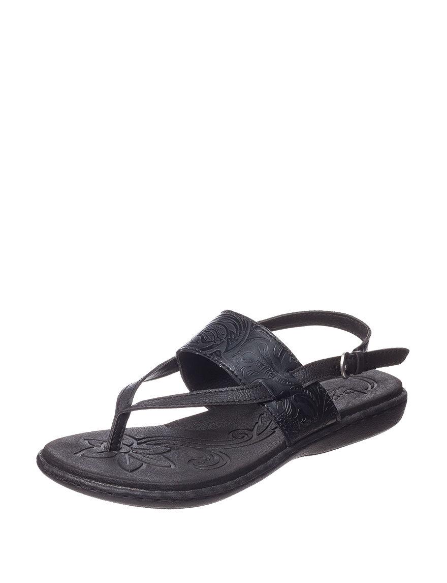 B.O.C. Black Flat Sandals