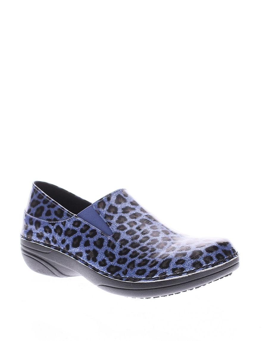 Spring Step Blue Clogs