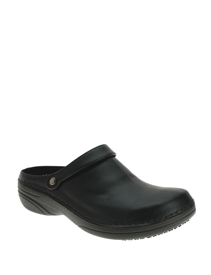 Spring Step Black Clogs