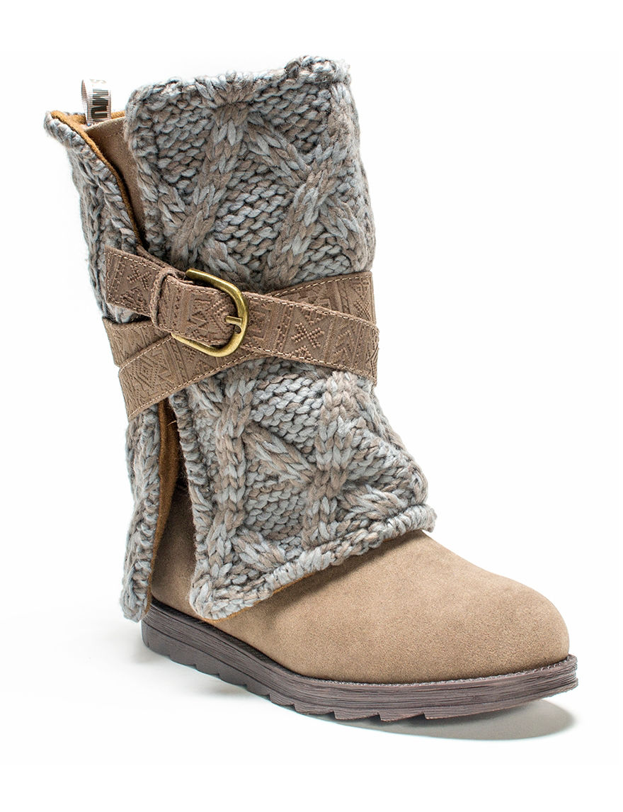 Muk Luks Taupe Winter Boots