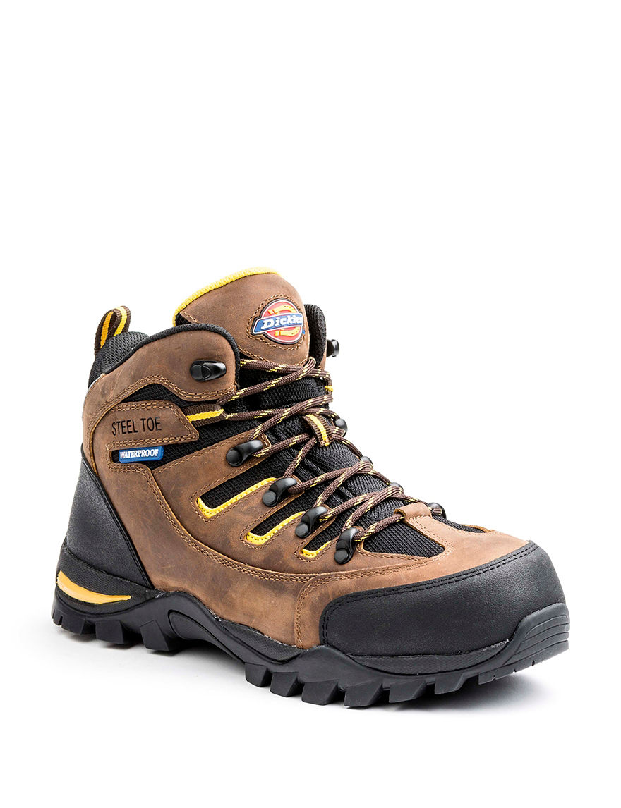 Dickies Brown Slip Resistant Steel Toe Waterproof