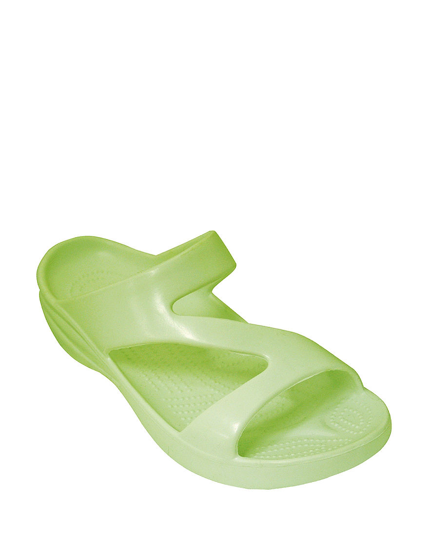 USA Dawgs Bright Green Flat Sandals Slide Sandals