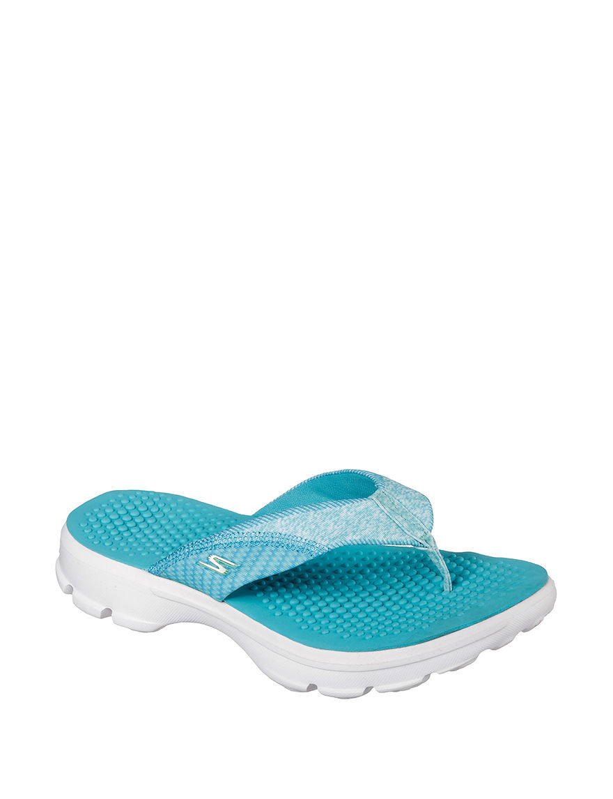 f68cc5133707 Skechers GO Walk Pizazz Thong Sandals