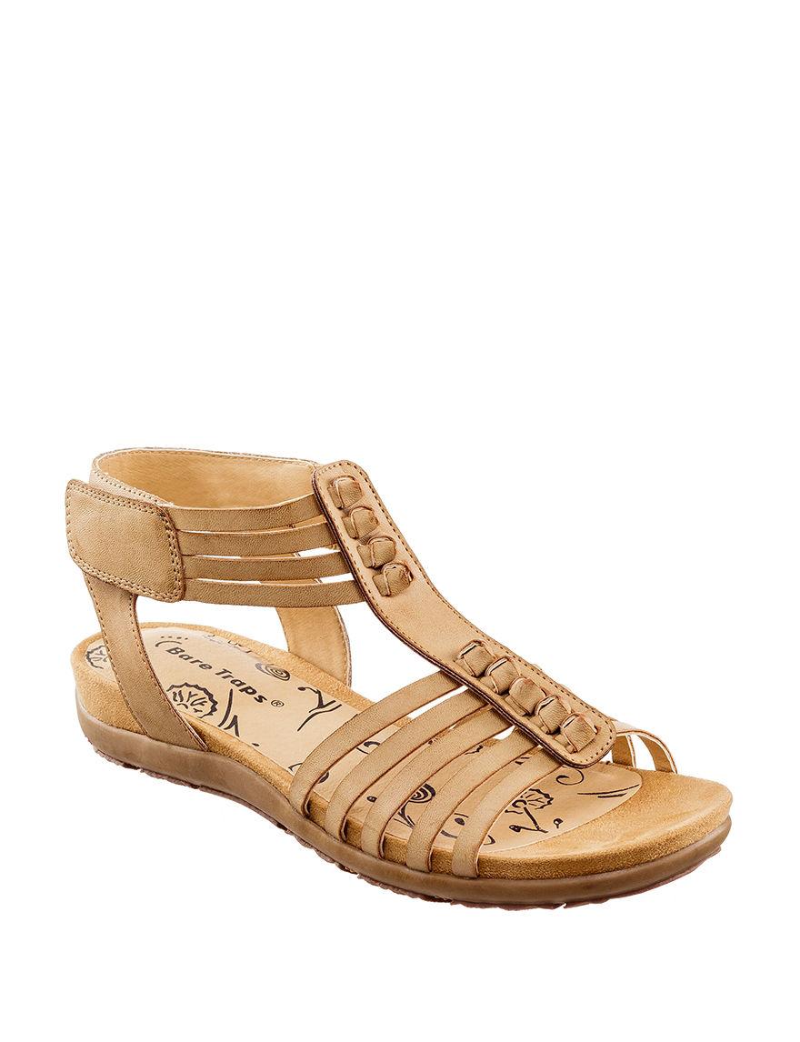 Bare Traps Tan Flat Sandals