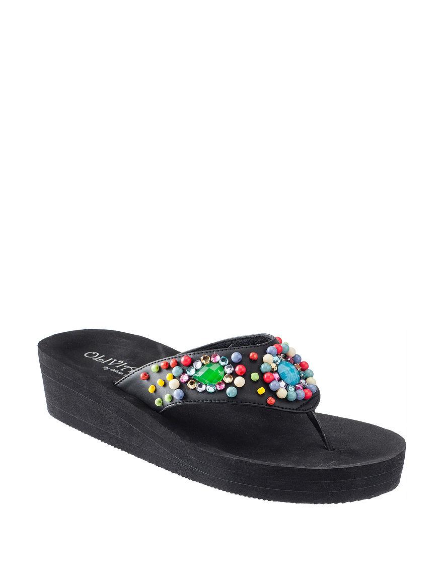 Olivia Miller  Wedge Sandals