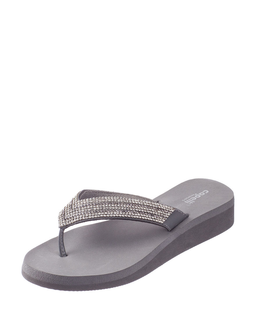 Capelli Grey Wedge Sandals