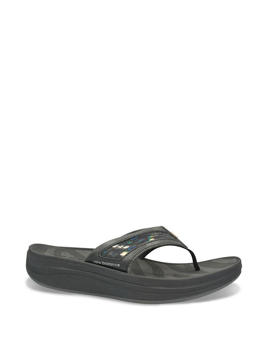 New Balance Black Flip Flops Slide Sandals Sport Sandals