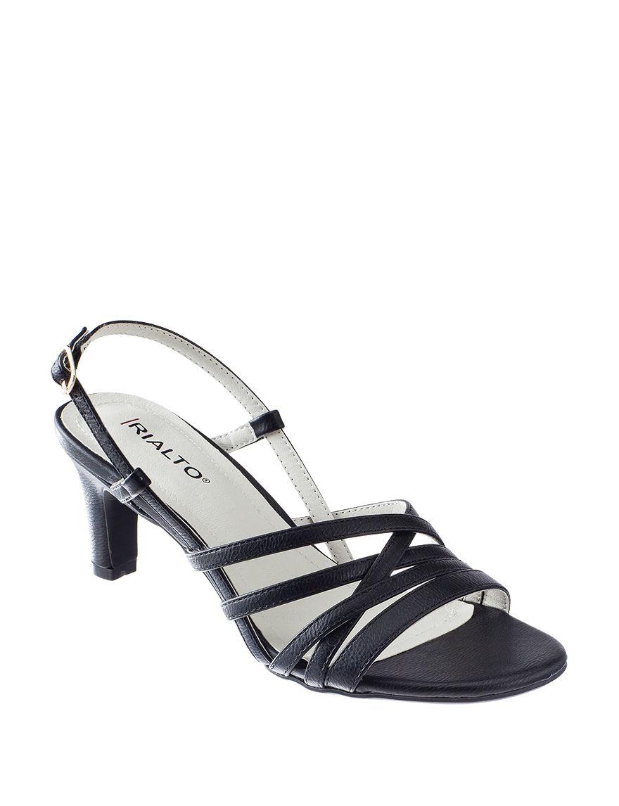 Rialto Black Heeled Sandals