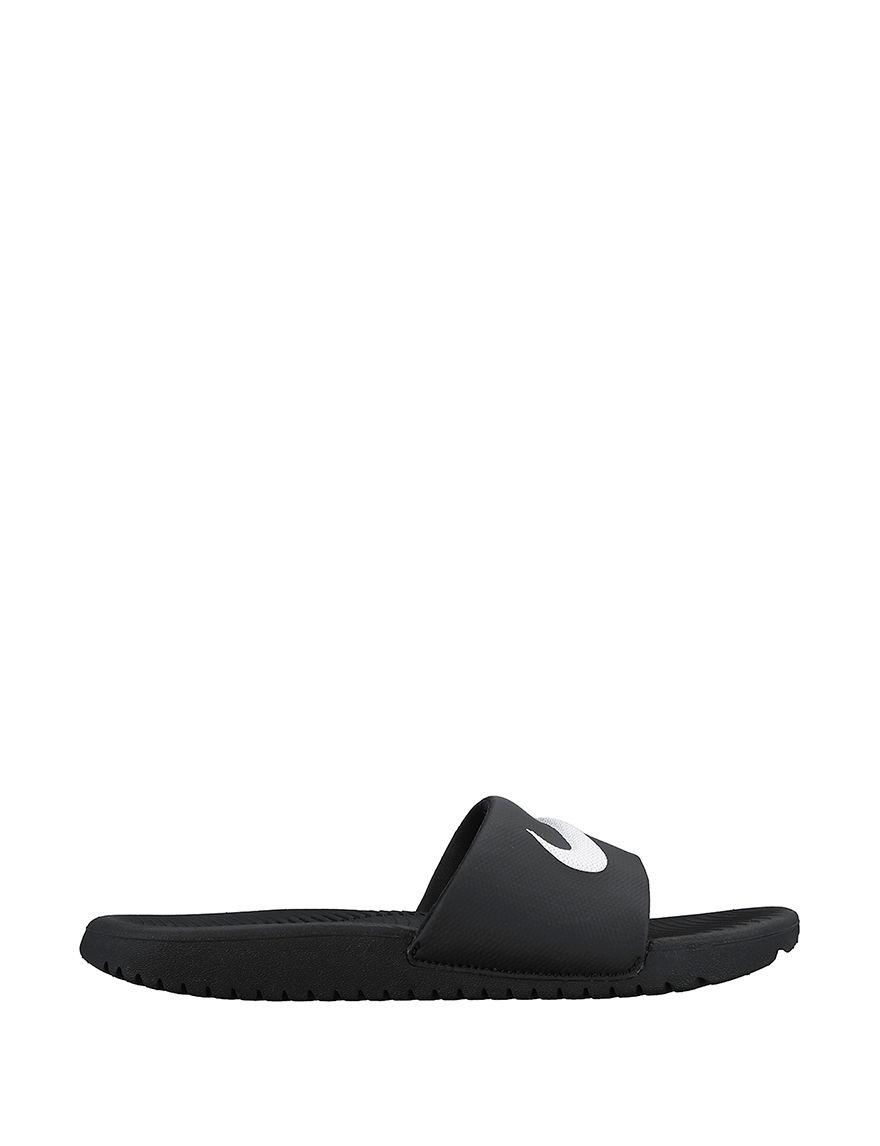 Nike Black /  White Slide Sandals