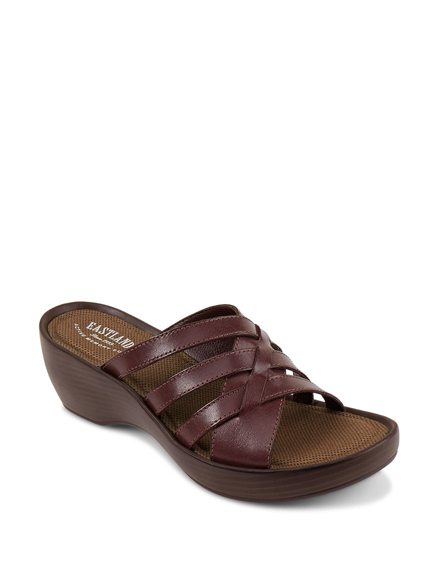 Eastland Cinnamon Wedge Sandals