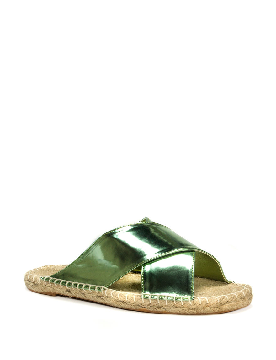 Muk Luks Mint Espadrille Flat Sandals