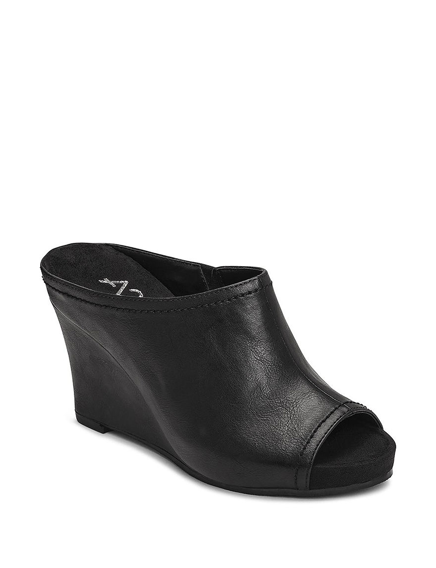 a303610d816 UPC 885833014758 product image for A2 by Aerosoles Plushed Metal Wedge Mules  - Black - 8.5 ...