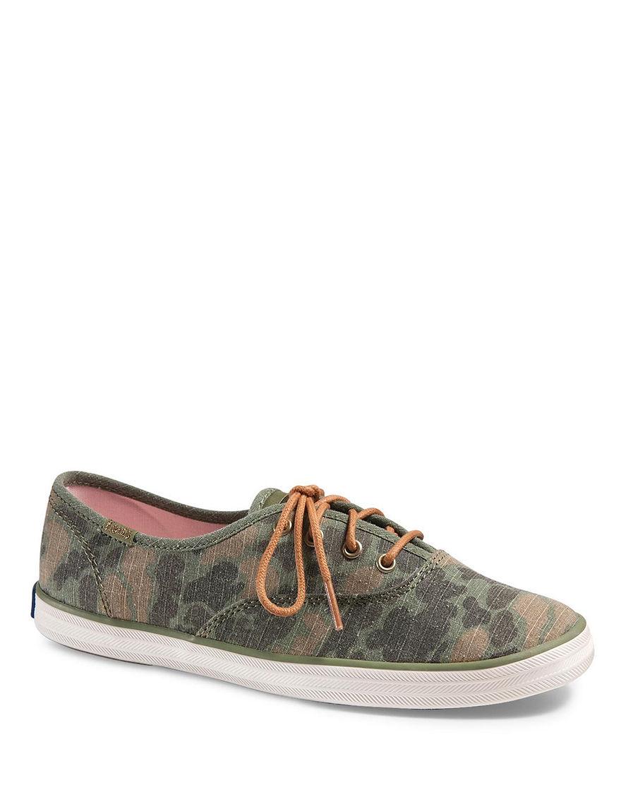 UPC 646881230763 product image for Keds Champion Camo Ripstop Oxfords Shoes - Olive - 7 - Keds | upcitemdb.com