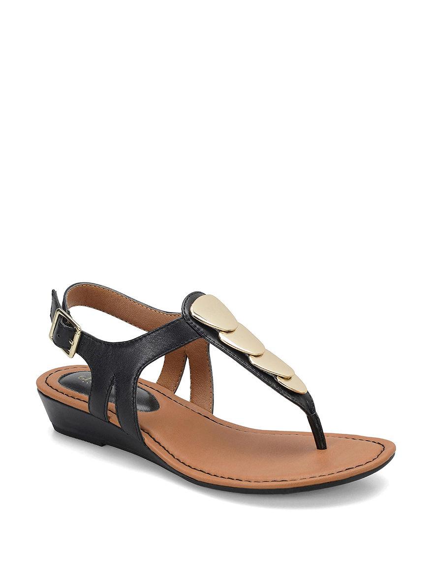 Eurosoft Black Flat Sandals