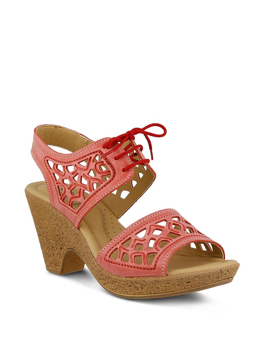Spring Step Coral Heeled Sandals